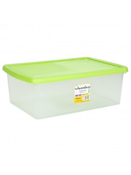 Wham® Box & Lid 37L x3 Lime
