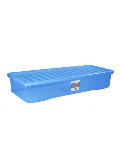 Wham® Crystal 55L Box & Lid x3 Blue