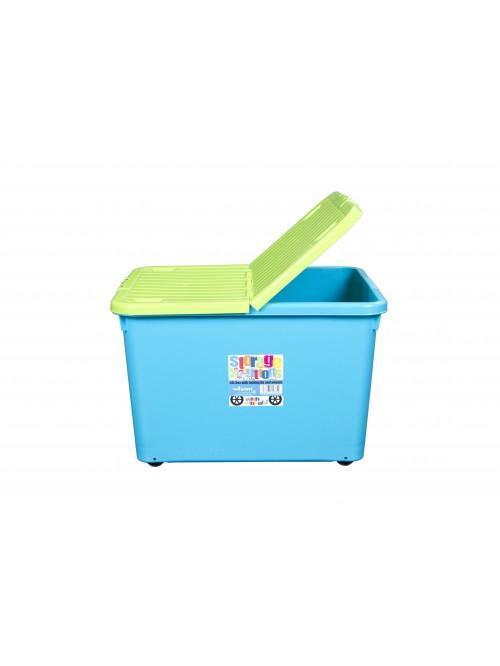 Wham® 44L Box with Wheels & Folding Lid x3 Lime