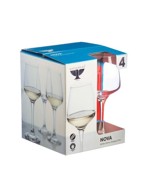 Ravenhead Nova 29cl White Wine Glasses Set of 4