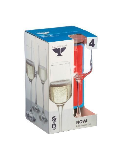 Ravenhead Nova 23cl Flute Glasses Set Of 4