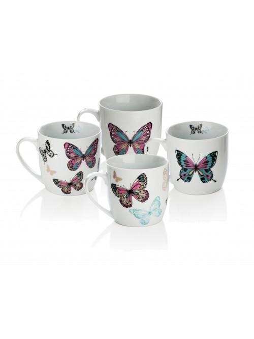 4 Piece Mariposa Mug Set
