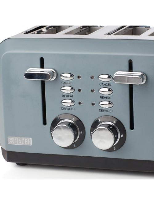 Haden Perth Sleek Slate Grey 4 Slice Toaster