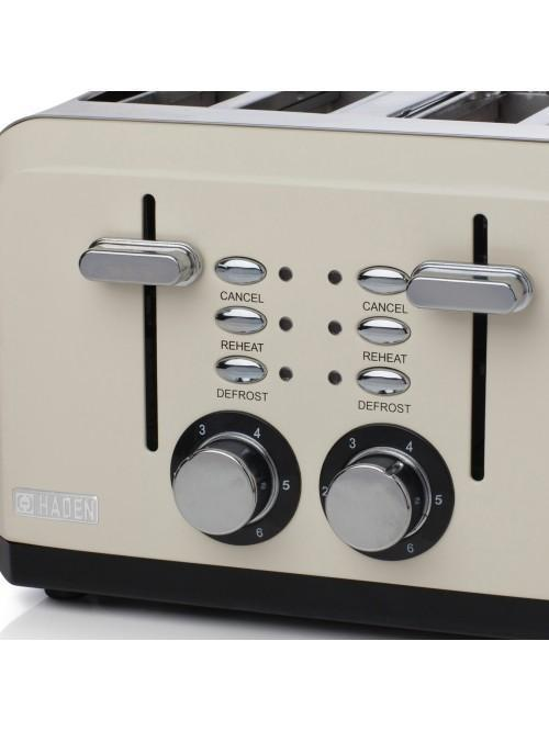 Haden Perth Sleek Cream 4 Slice Toaster