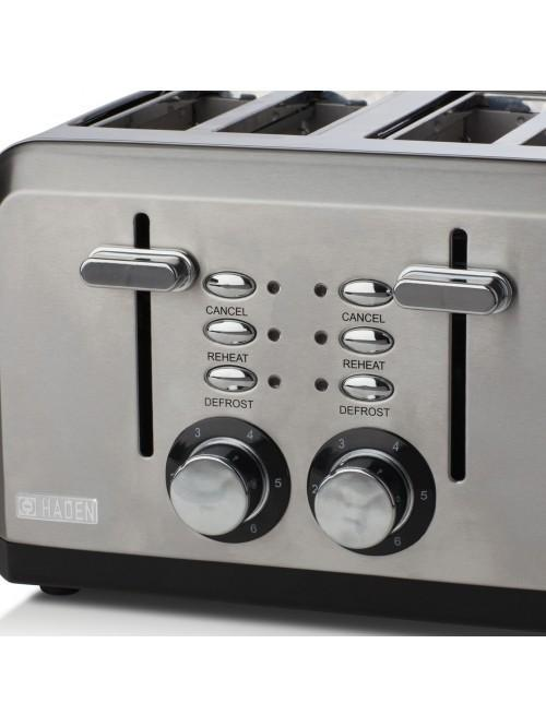 Haden Perth Sleek Stainless Steel 4 Slice Toaster