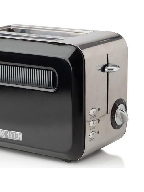 Haden Boston Black Pyramid 2 Slice Toaster