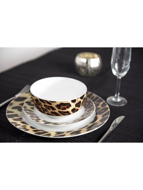 12 Piece Leopard Dinner Set
