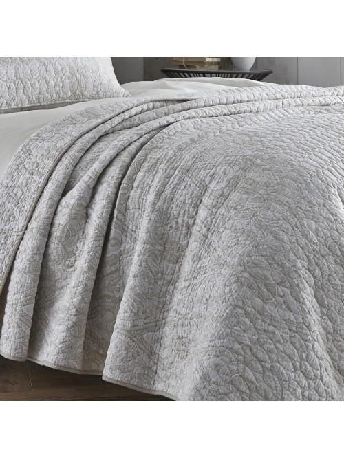 Bianca Printed Bedspread Natural