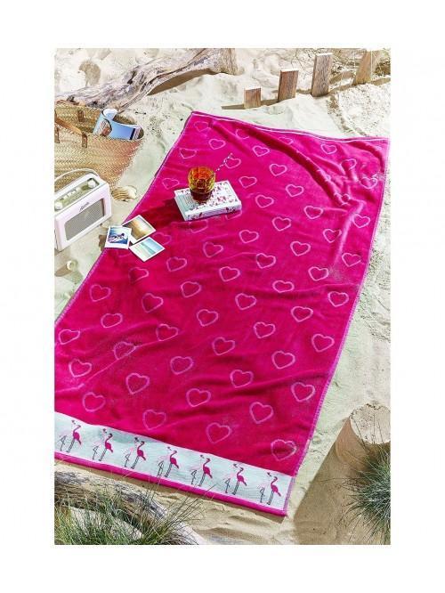 Catherine Lansfield Flamingo Beach Towel Pink