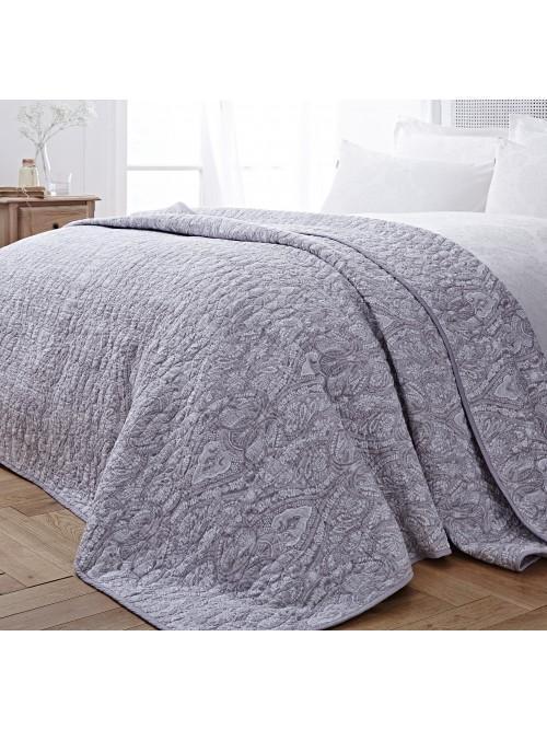 Bianca Printed Bedspread Grey