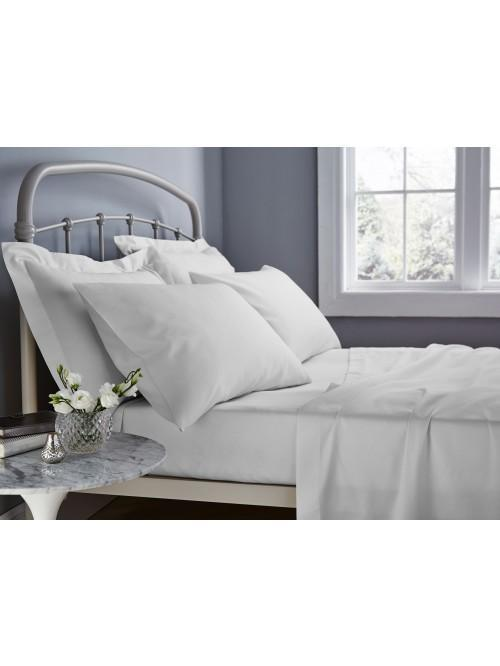 Catherine Lansfield 500TC Cotton Rich Bed Linen White