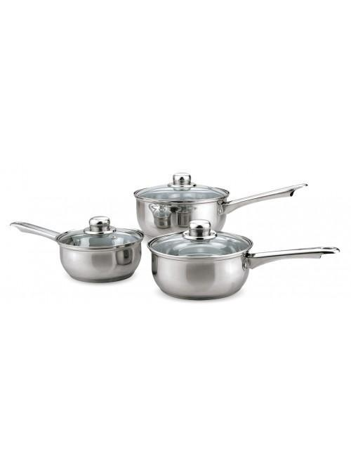 3 Piece Essential Stainless Steel Pan Set