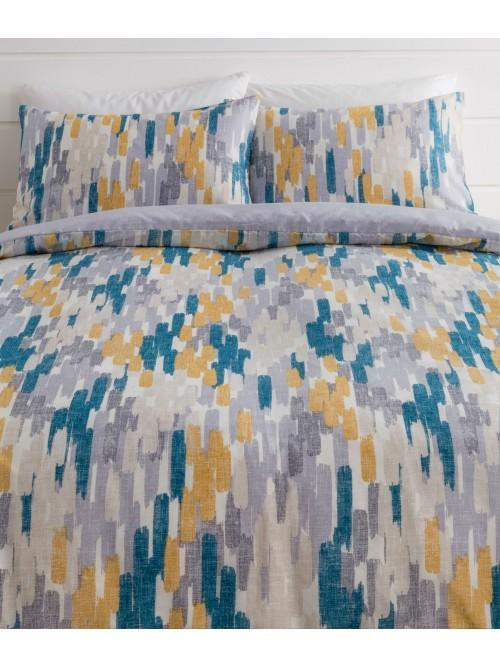 Abstract Paint Printed Duvet Set Multi