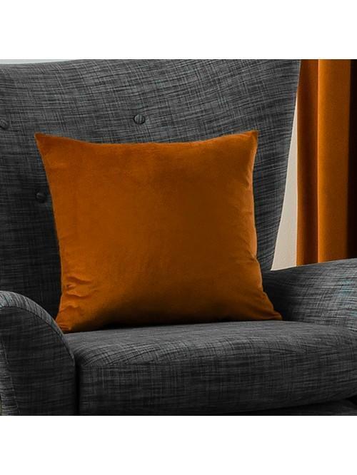 Allure Matt Velvet Cushion Orange