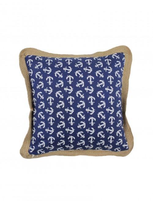 Anchor Applique Cushion Navy