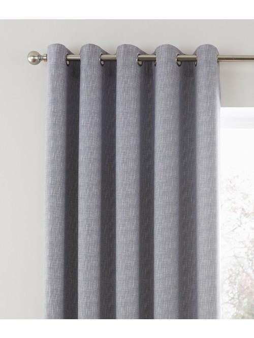 Bayliss Eyelet Curtains Grey