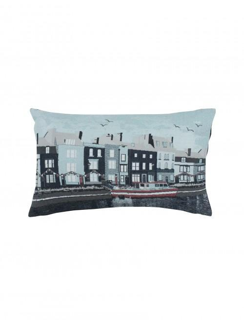 Harbour View Jacquard Cushion Navy