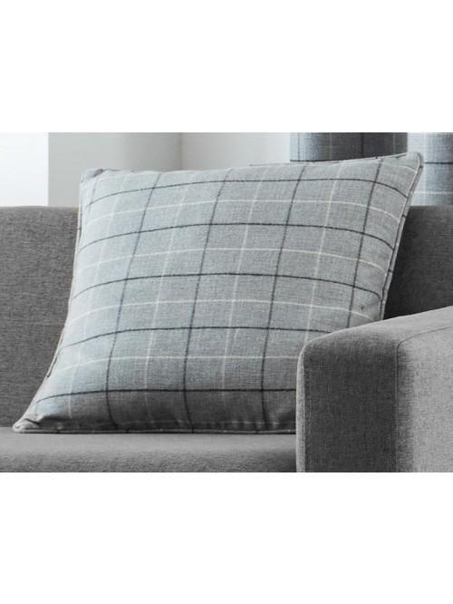 Curtina Braemar Check Cushion Charcoal