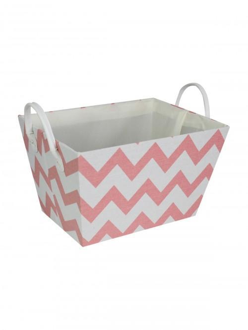 Chevron Storage Tray Pink