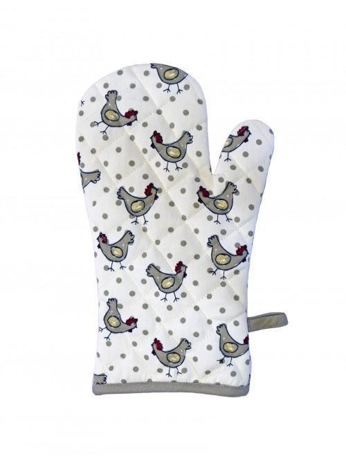 Ponden Home Chicken Single Oven Glove, Cream