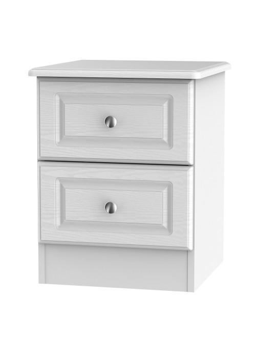 Hampshire 2 Drawer Bedside Cabinet White Ash