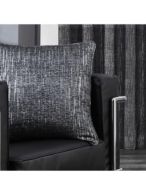 Large Corsica Feather Filled Cushion Black