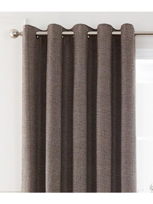 Cosy Twill Eyelet Curtains Natural
