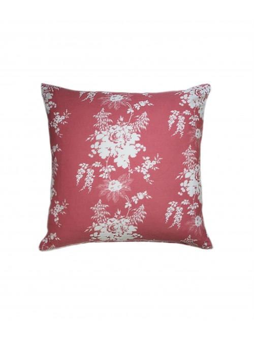 Cabbages & Roses Charlotte Cushion Raspberry