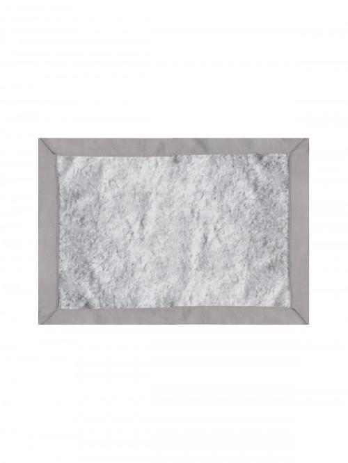 Hotel Collection Crushed Velvet Effect Placemat Grey