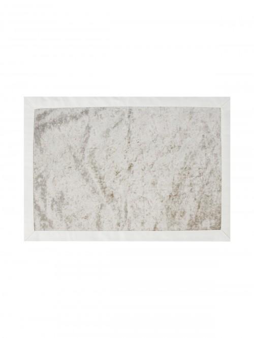Hotel Crushed Velvet Fabric Placemat Cream