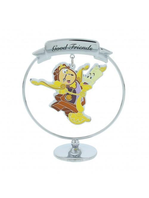 Disney Chrome Plated Freestand Cogsworth & Lumiere