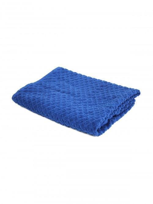Cotton Diamond Tea Towel Navy