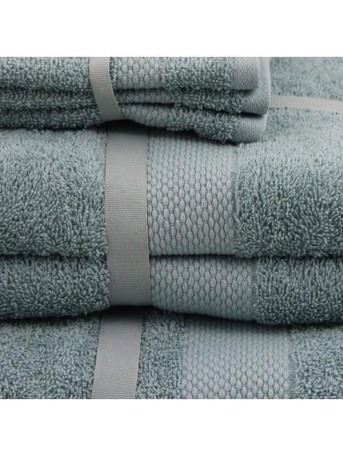 Two Pack 100% Cotton Egyptian Towels Duck Egg