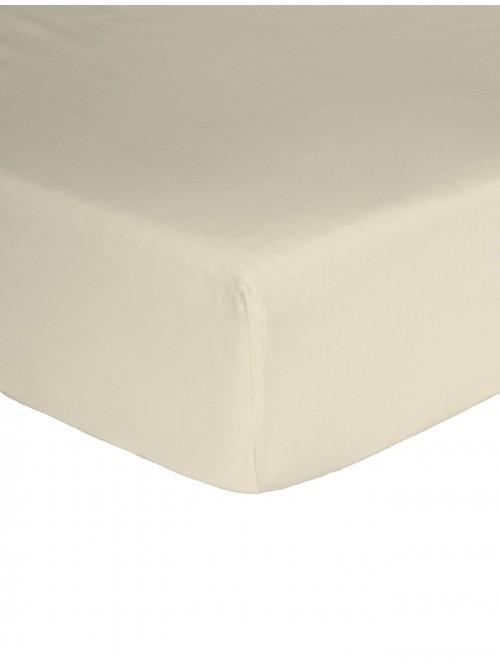 Egyptian 100% Cotton 200 Thread Count Flat Sheet Cream