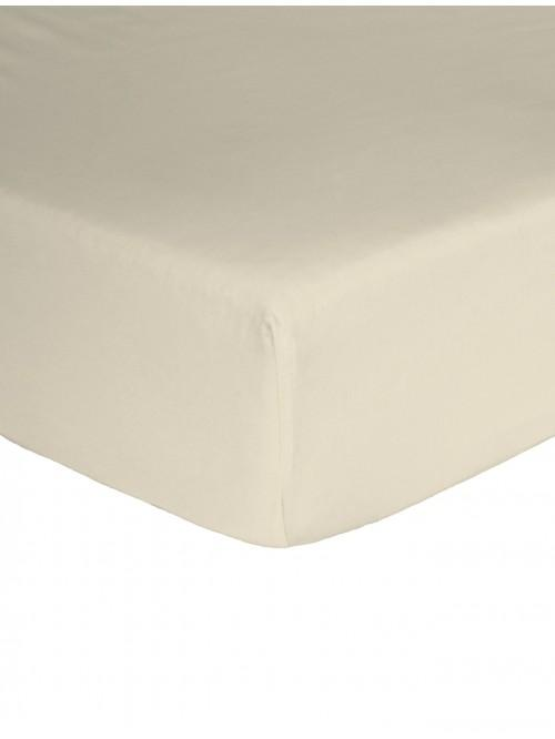 Egyptian 100% Cotton 200 Thread Count Flat Sheet Cream