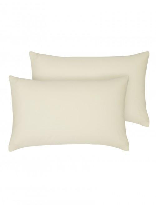 Egyptian 100% Cotton Housewife Pillowcase Pair Cream