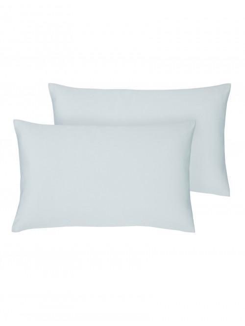 Egyptian 100% Cotton Housewife Pillowcase Pair Duck Egg