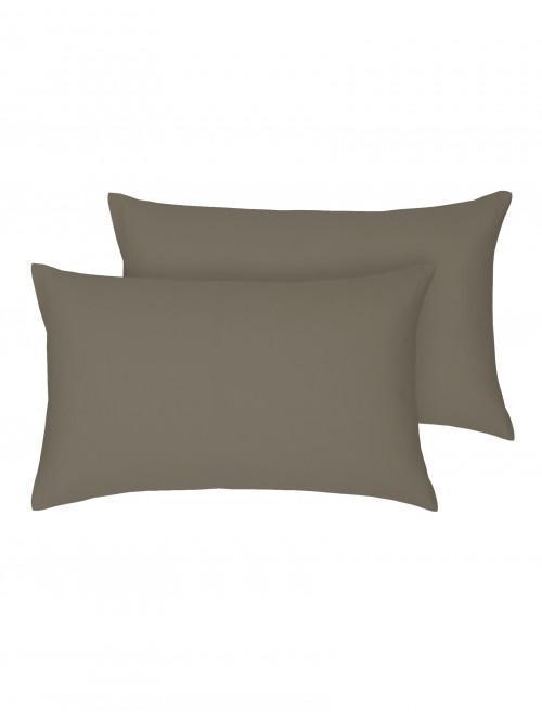 Egyptian 100% Cotton Housewife Pillowcase Pair Truffle