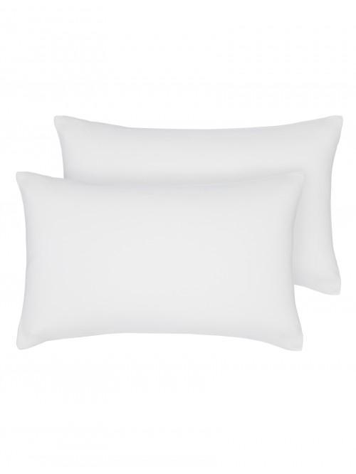 Egyptian 100% Cotton 200 Thread Count Housewife Pillowcase Pair White
