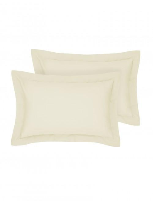 Egyptian 100% Cotton Oxford Pillowcase Pair Cream