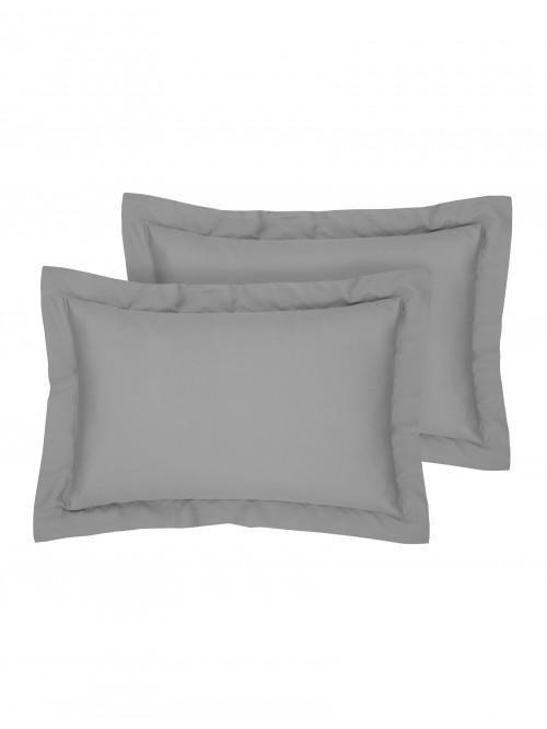 Egyptian 100% Cotton Oxford Pillowcase Pair Grey