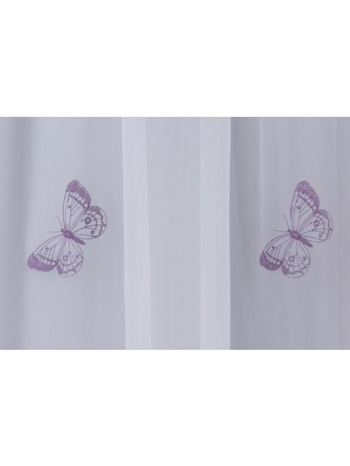 Embroidered Butterfly Voile Panel Heather