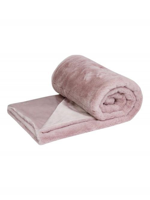 Luxury Faux Fur Throw Blush