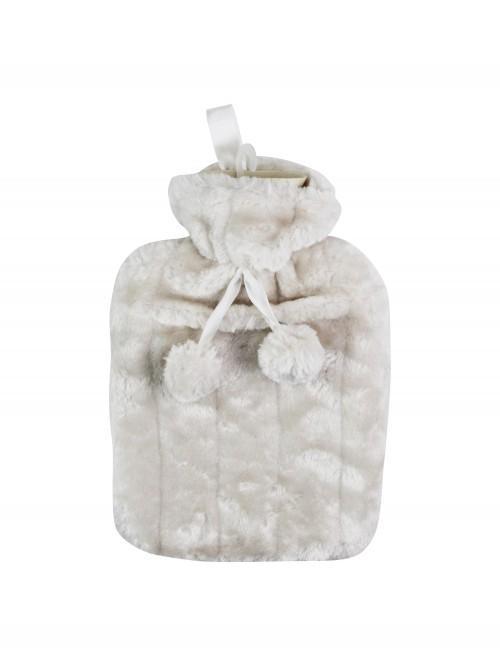 Faux Fur Hot Water Bottle Natural