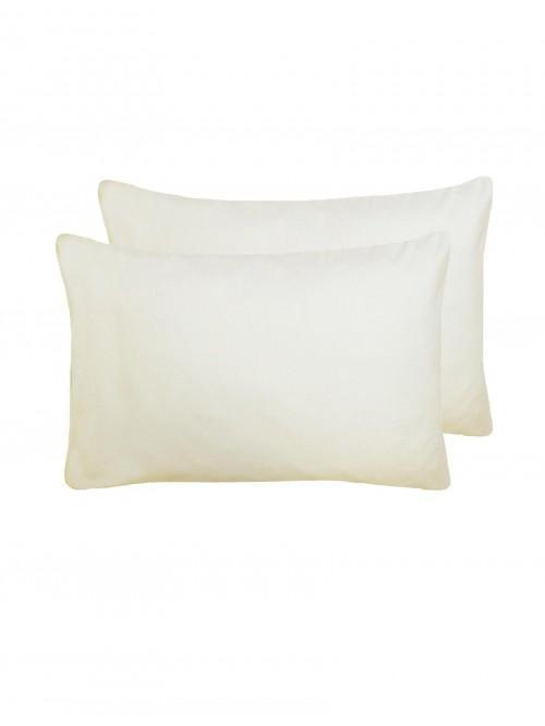 Flannelette 100% Brushed Cotton Housewife Pillowcase Pair Cream