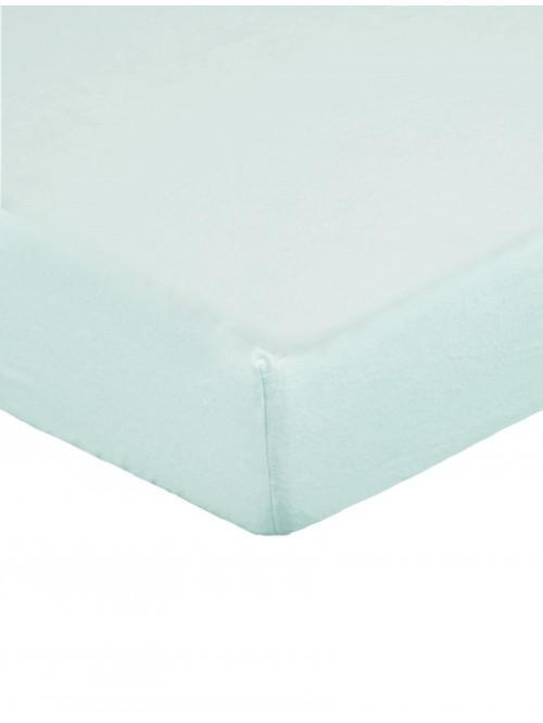 Flannelette 100% Brushed Cotton Fitted Sheet Duck Egg
