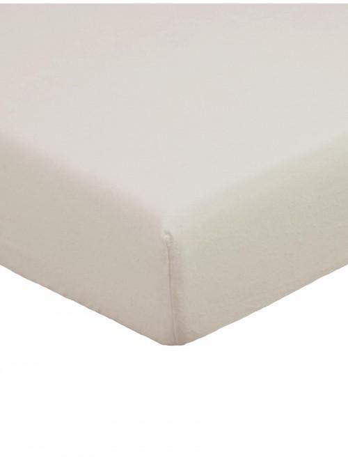 Flannelette 100% Brushed Cotton Flat Sheet Latte