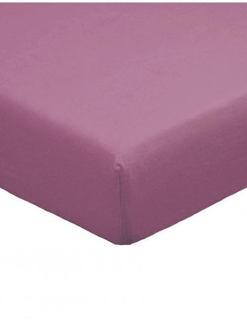 Flannelette 100% Brushed Cotton Fitted Sheet Plum