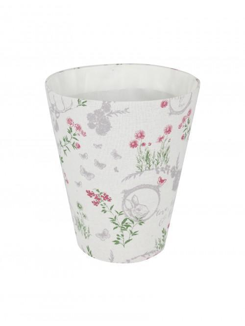 Flora Waste Basket Cream