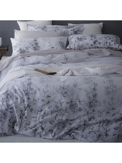 Bianca Floral Cotton Print Bedding Collection White